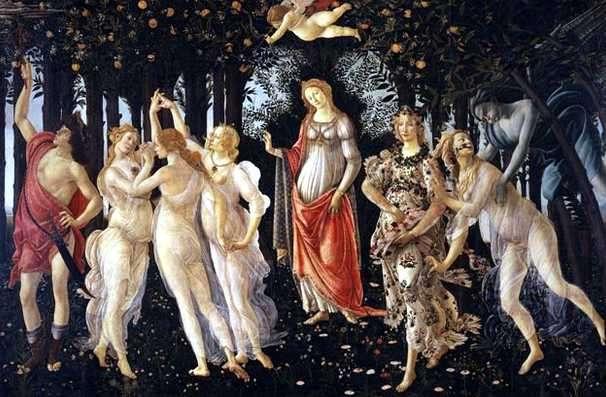 La LLegada de la Primavera , Botticelli
