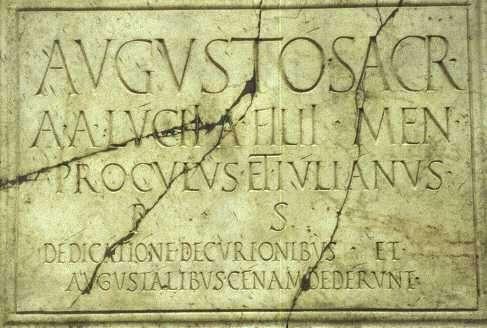 Una inscripción romana en latín