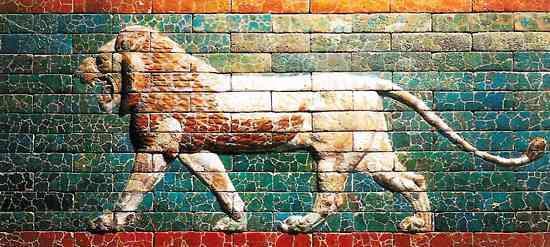 leones de terraconta en babilonia