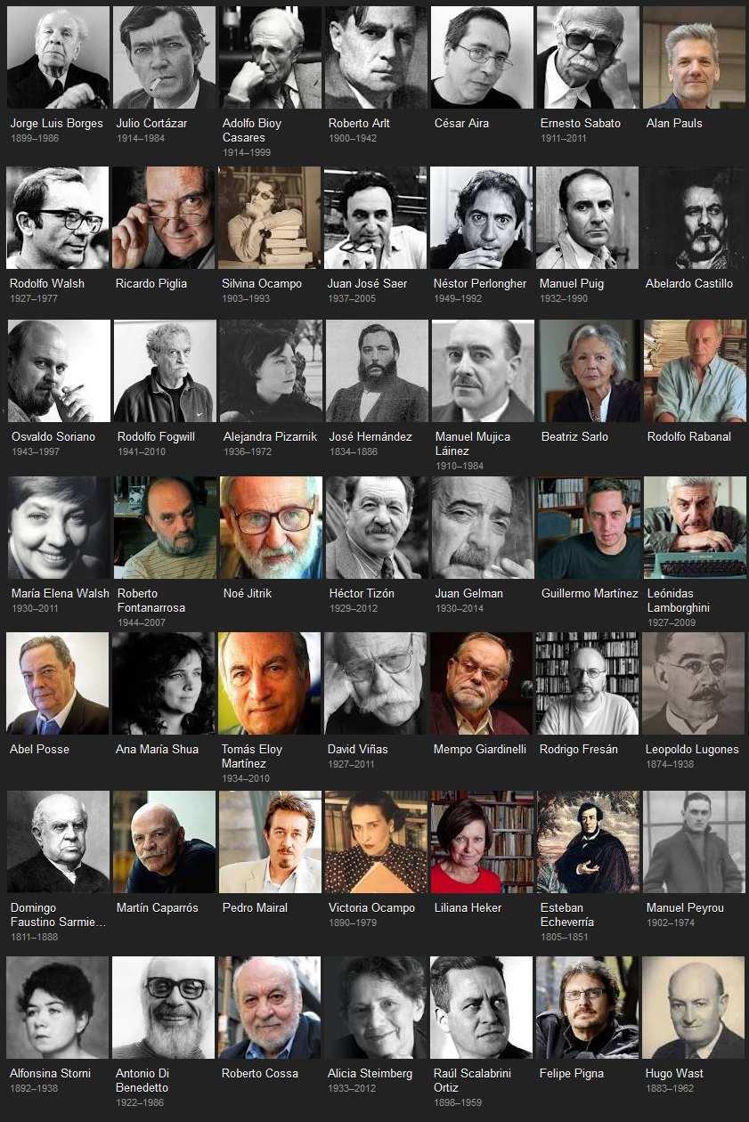 lista de escritores argentinos
