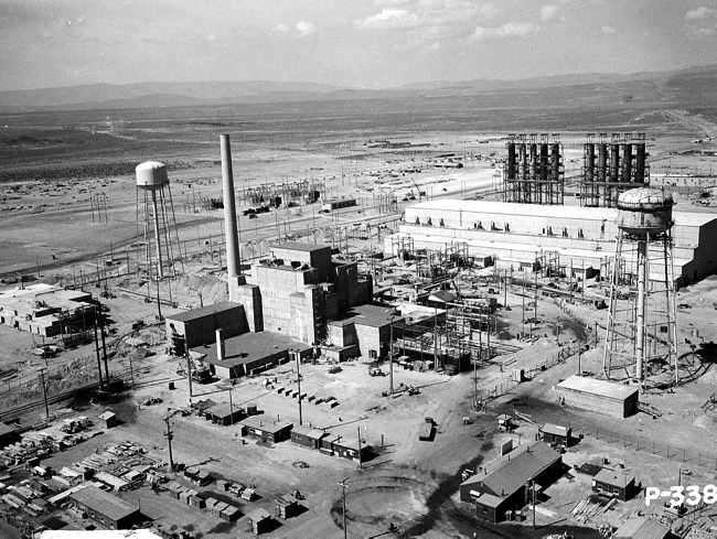 vista aerea del laboratorio atomico de Los Alamos en Mexico