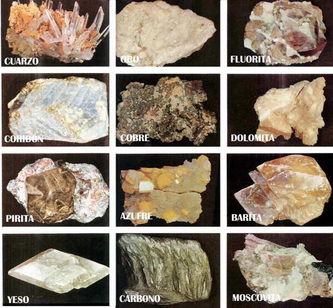 los minerales de la Tierraa