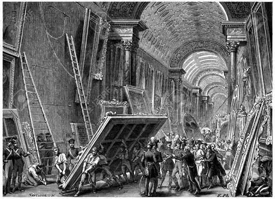 historia del museo de louvre en francia