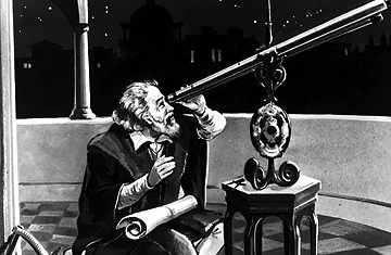 Galileo observando la Luna