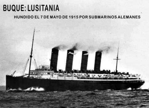 buque  lusitania