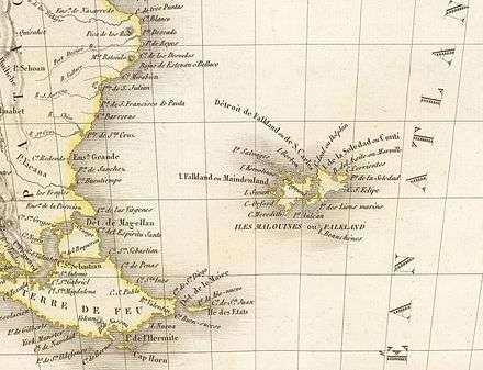 antiguo mapa del sur argentino