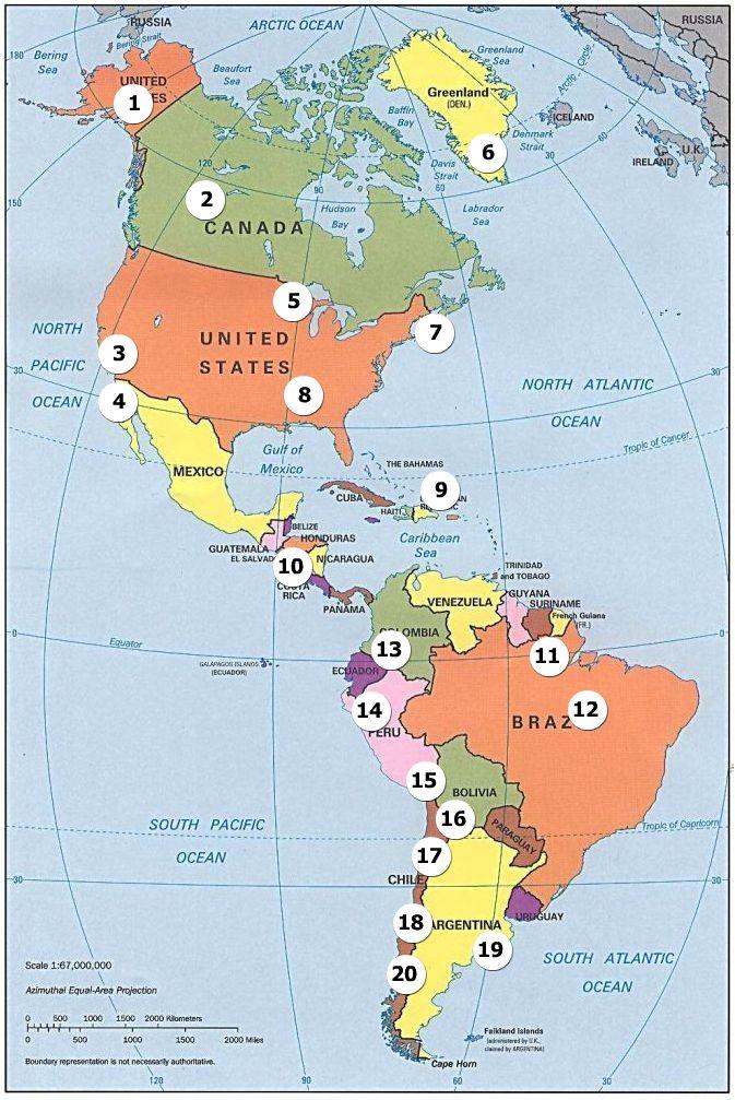 Superlativos de Amrica Mayores Montaasrioslagoscostas