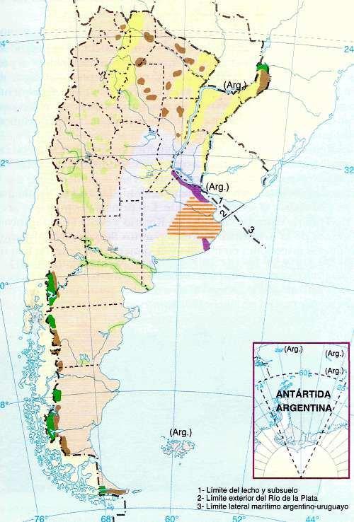 mapa de usos agrarios del suelo argentino