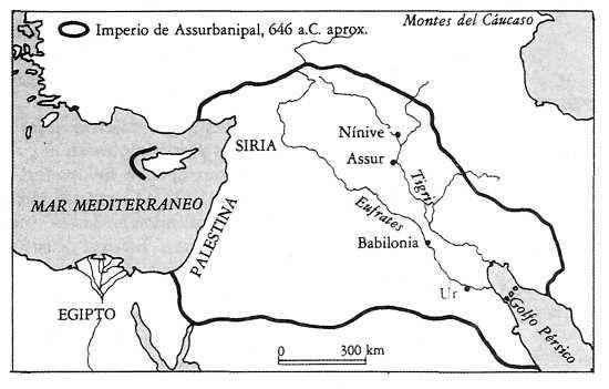 Mapa Imperio de los Asirios