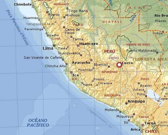 mapa de cuzco en peru