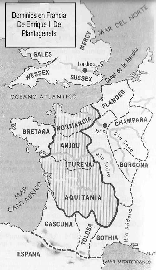 mapa dominio de enrique plantagenets