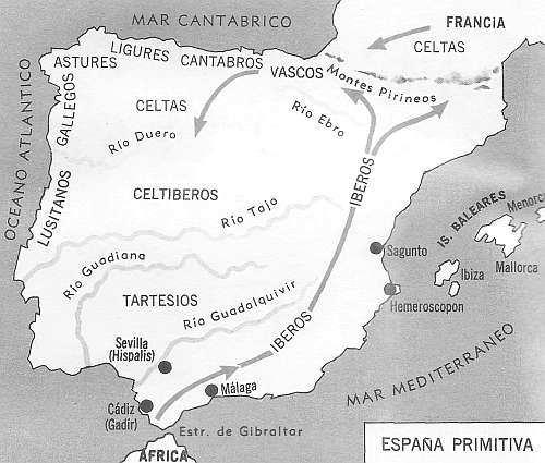 mapa de espana pre romana