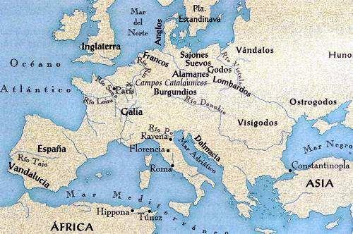 mapa de la invasion barbara
