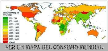 mapa de consumo de agua en el mundo