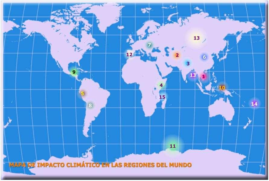 mapa impacto climatico