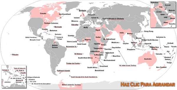 mapa imperio britanico siglo xix
