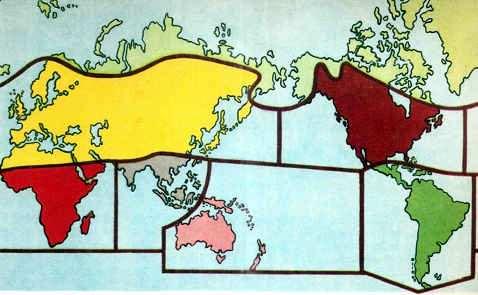 mapa de habitat del mundo