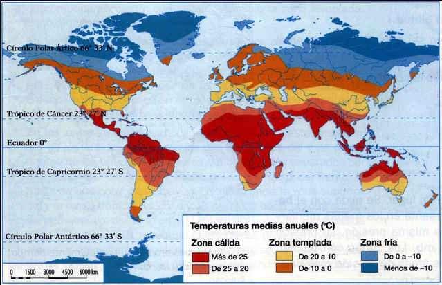 mapa de mundo con temperaturas por regionesn