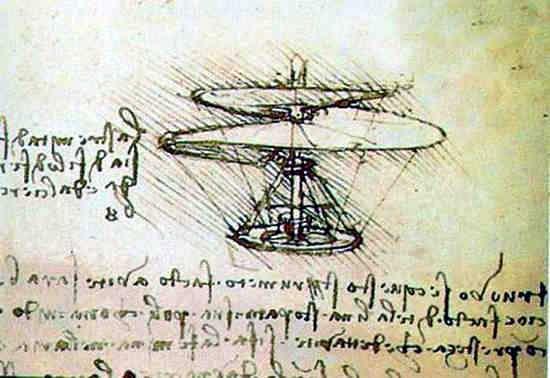 maquina voladora de Leonardo Da Vinci