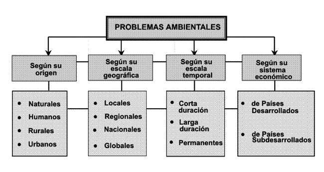 cuadro de problemas medioambientales