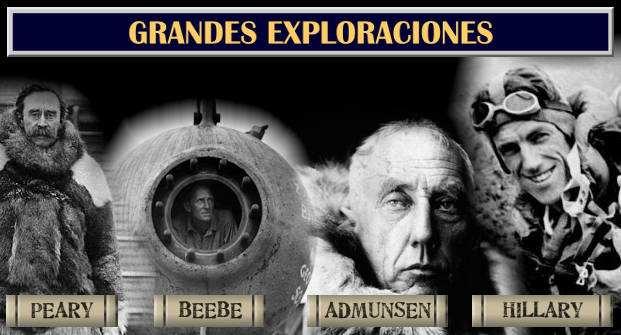 exploradores de la historia admunse, hillary, beebe, peary