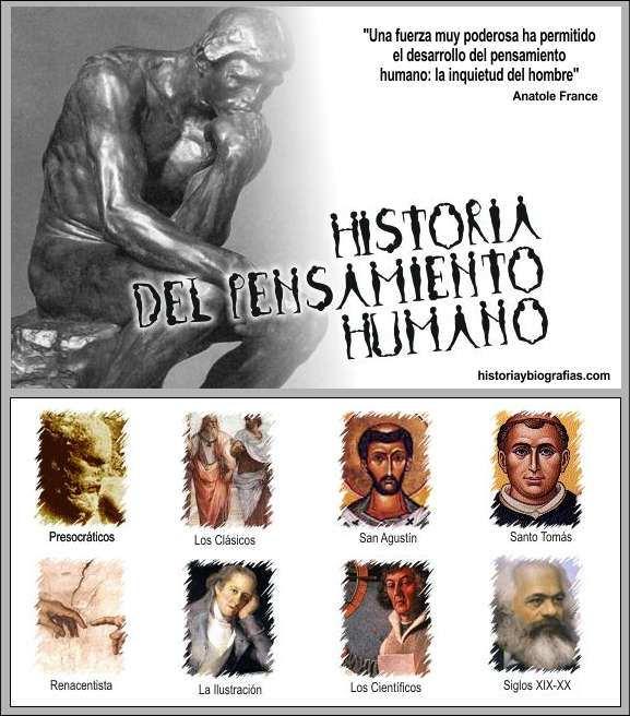 historia del pensamiento humano