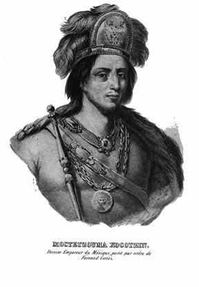Moctezuma II emperador azteca