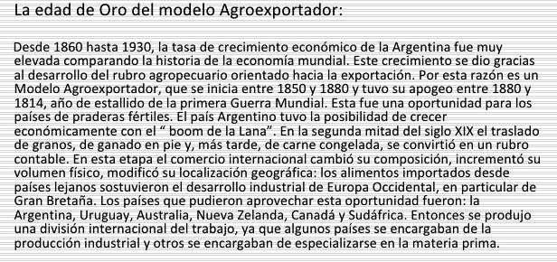 Características del Modelo Agroexportador de la Oligarquía Argentina