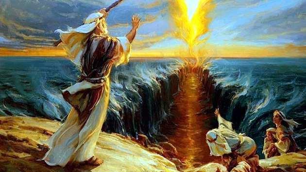 salida del pueblo judio de Egipto conducido por Moises