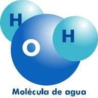 Elementos químicos de una molécula de Agua: 2 átomos de hidrógeno y 1 de oxígeno