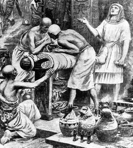 embalsamando muertos en egipto