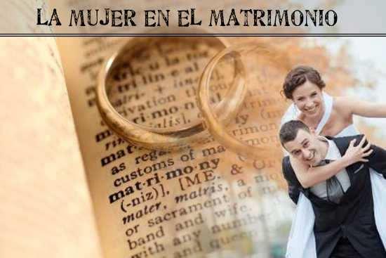 la mujer en el matrimonio