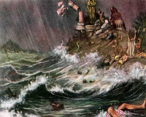 el arca de noe en el diluvio