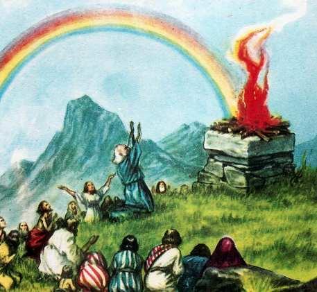 Noé salió del Arca, inmediatamente levantó un altar para agradecer a Dios