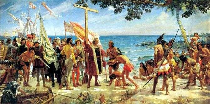 Resultado de imagen de Colón llega al nuevo Mundo