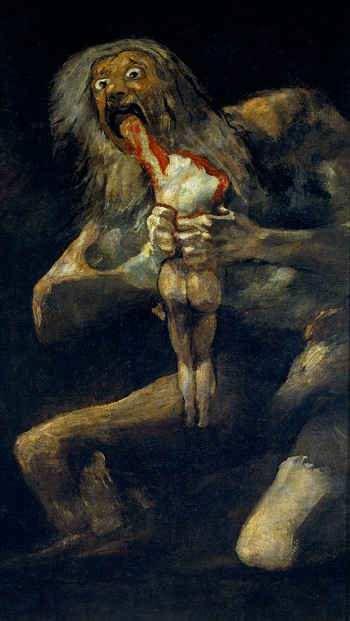 Saturno obra de Goya Pinturas Negras