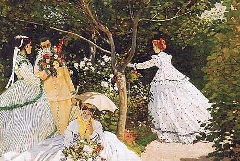 Obra de Monet Mujeres en el Jardín