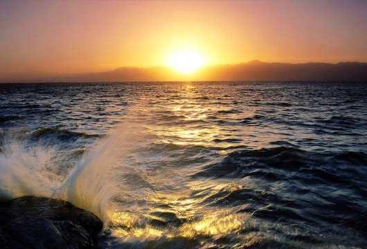 vista de un oceano