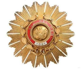 Orden Del Sol Concedoración Craeada Por San Martin
