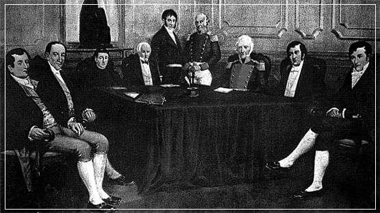 Organizacion politica de argentina, Primera Junta de Gobierno 1810