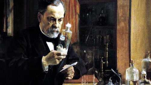 Pasteur en su laboratorio
