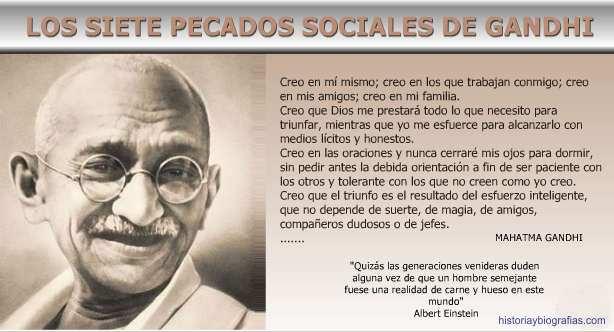 los siete pecados sociales de Gandhi