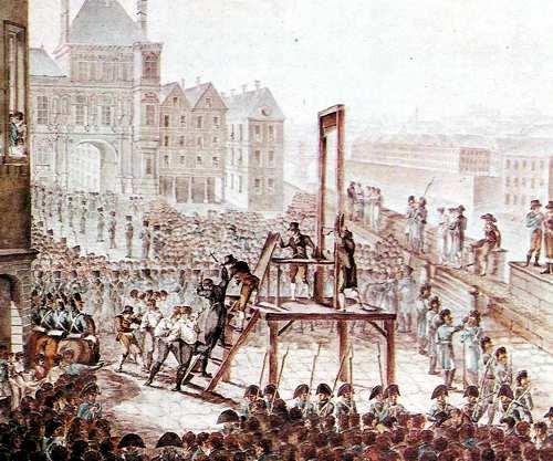 la guillotina como pena capital