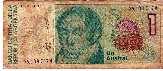 billete de un austral