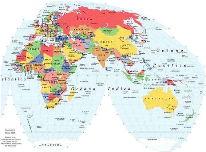 Planisferio Mapa Del Mundo Mapamundi Mapa Político Del Mundo