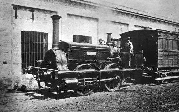 la porteña, primer tren en buenos aires
