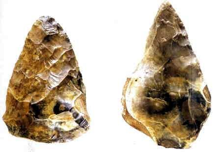 hacha de piedra edad de piedra