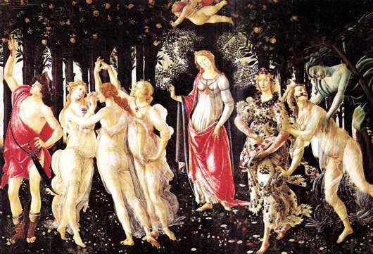 obra: la primavera de botticelli
