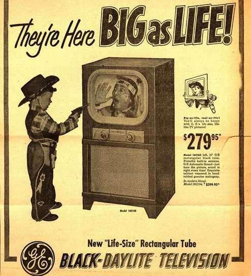 publicidad antigua de televisores