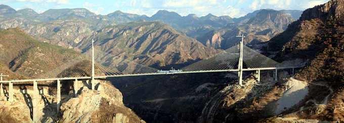 puente colgfante en mexico